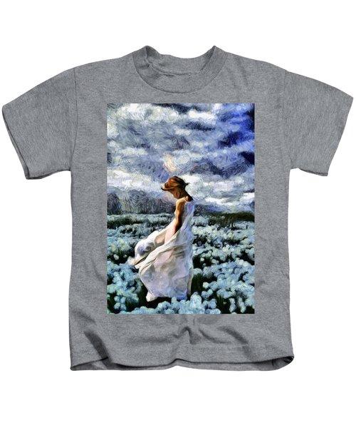 Girl In A Cotton Field Kids T-Shirt