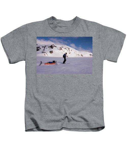 Glacier Geology Phd Student Skis Kids T-Shirt