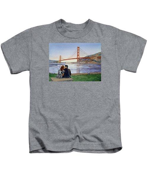 Golden Gate Bridge San Francisco - Two Love Birds Kids T-Shirt