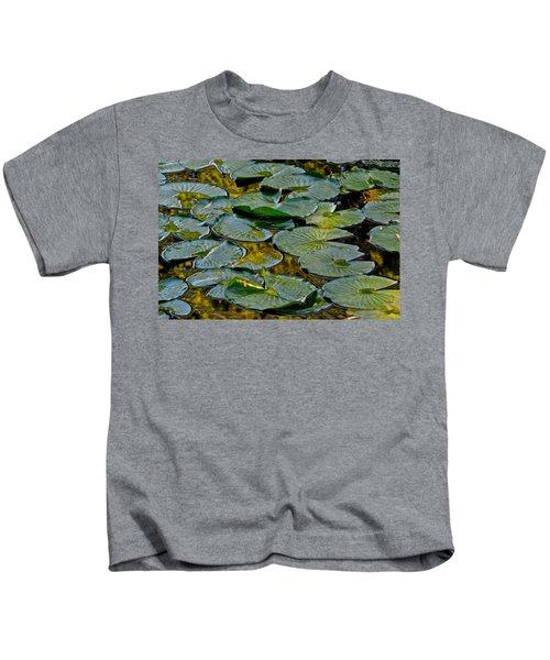 Golden Lilly Pads Kids T-Shirt