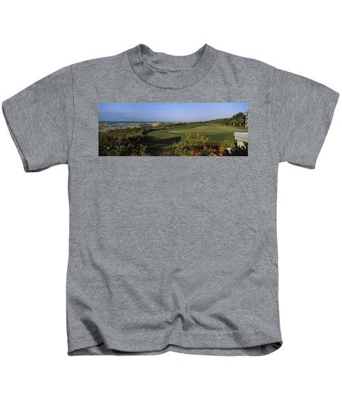 Golf Course At The Seaside, Kiawah Kids T-Shirt