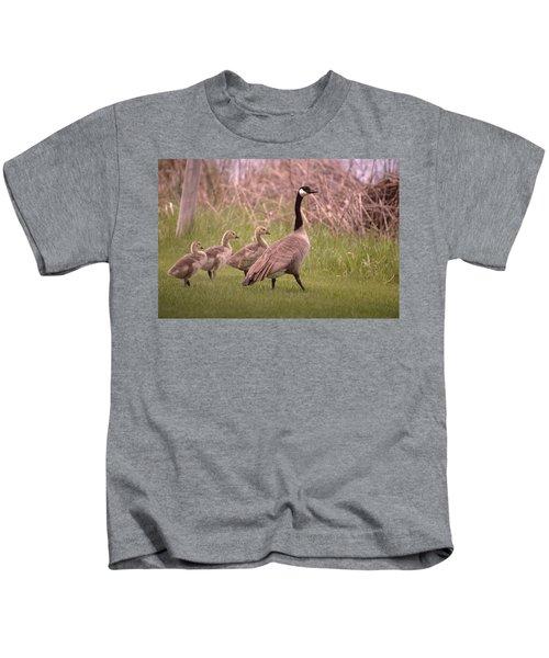 Goslings On A Walk Kids T-Shirt