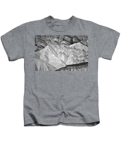 Gower Gulch Loop #4 - Black And White Kids T-Shirt