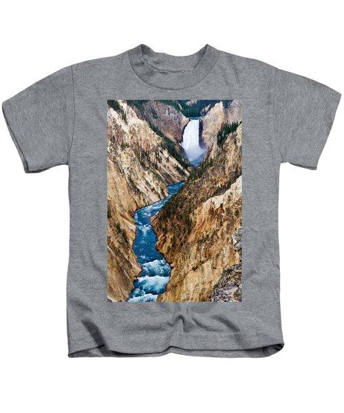 Grand Canyon Of Yellowstone Kids T-Shirt