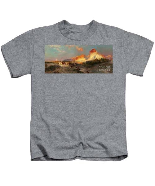 Green River Cliffs Wyoming Kids T-Shirt