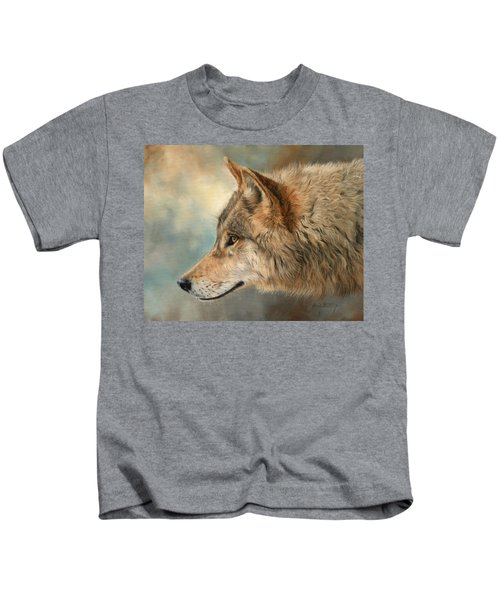 Grey Wolf 3 Kids T-Shirt