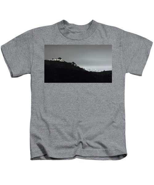 Griffith Park Observatory And Los Angeles Skyline At Night Kids T-Shirt