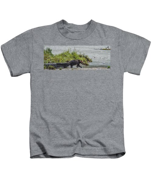 Grizzly Bear Late September 4 Kids T-Shirt