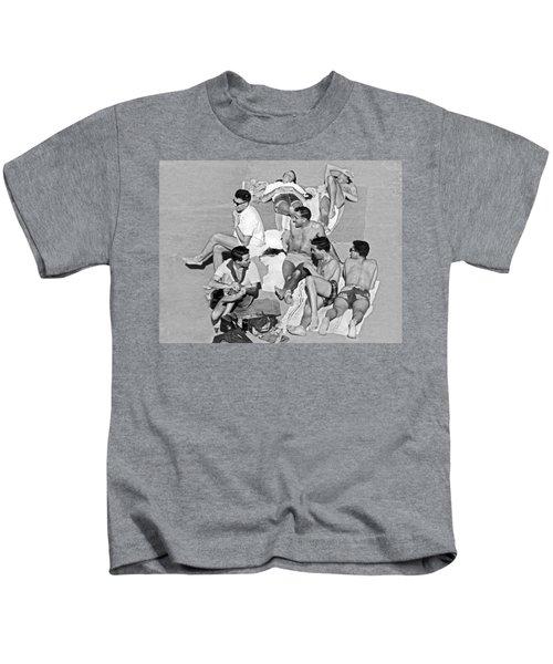Group Of Men Sunbathing Kids T-Shirt