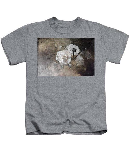 Grunge White Rose Kids T-Shirt