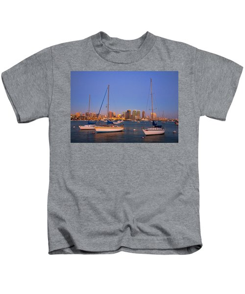 Harbor Sailboats Kids T-Shirt
