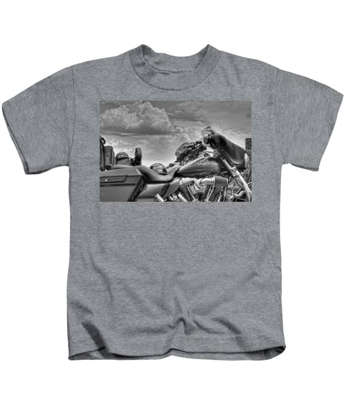 Harley Black And White Kids T-Shirt