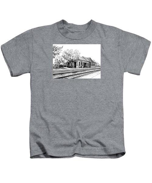 Hinsdale Train Station Kids T-Shirt
