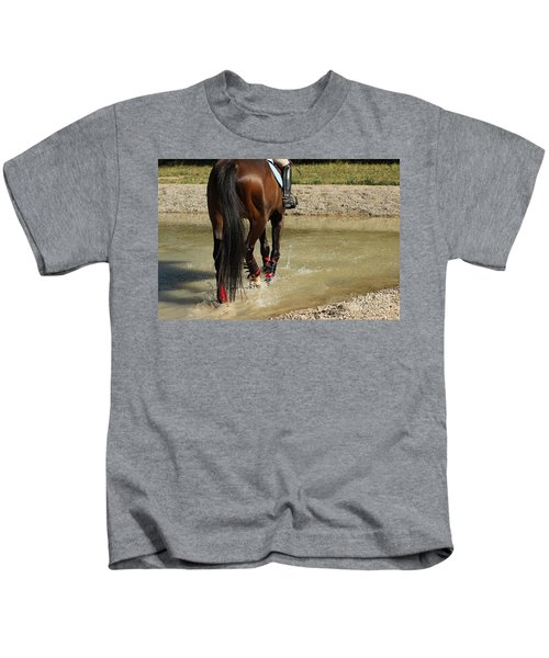Horse In Water Kids T-Shirt