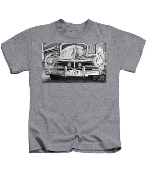 Hudson Dreams In Black And White Kids T-Shirt
