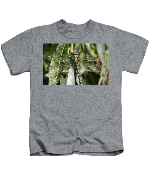 Huge Dragon-fly In Detail. Kids T-Shirt