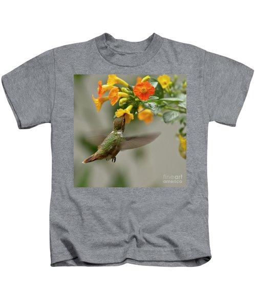 Hummingbird Sips Nectar Kids T-Shirt
