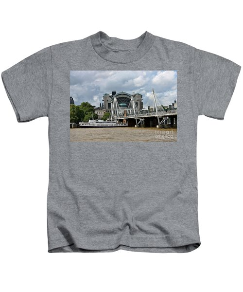 Hungerford Bridge And Charing Cross Kids T-Shirt