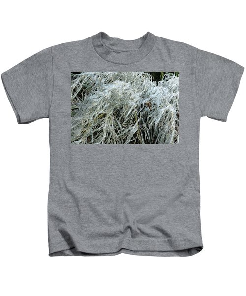 Ice On Bamboo Leaves Kids T-Shirt