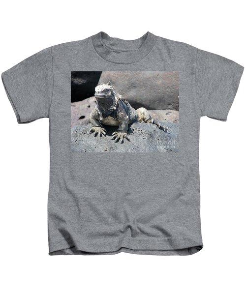 Iguana Or Prehistory Survivor Kids T-Shirt