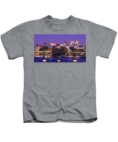 Ile De La Cite And Pont Des Arts / Paris Kids T-Shirt