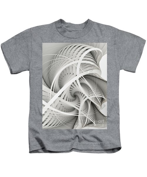 In Betweens-white Fractal Spiral Kids T-Shirt