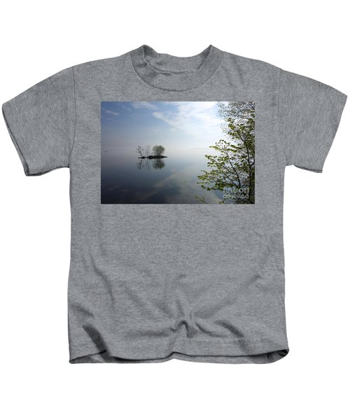 In The Distance On Mille Lacs Lake In Garrison Minnesota Kids T-Shirt