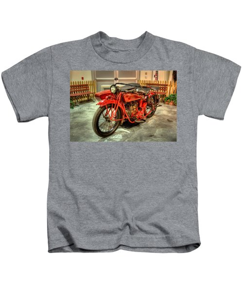Indian Motorcycle With Sidecar Kids T-Shirt