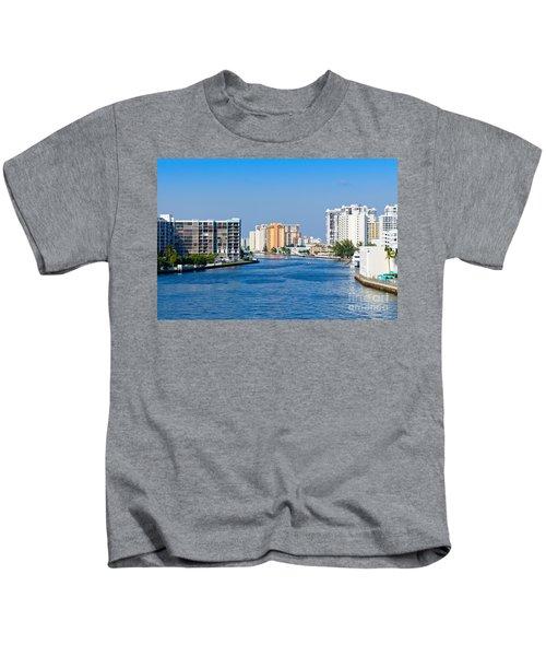 Intracoastal Waterway In Hollywood Florida Kids T-Shirt
