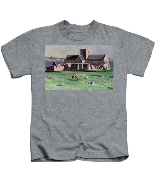 Iona Abbey From The Northwest Kids T-Shirt