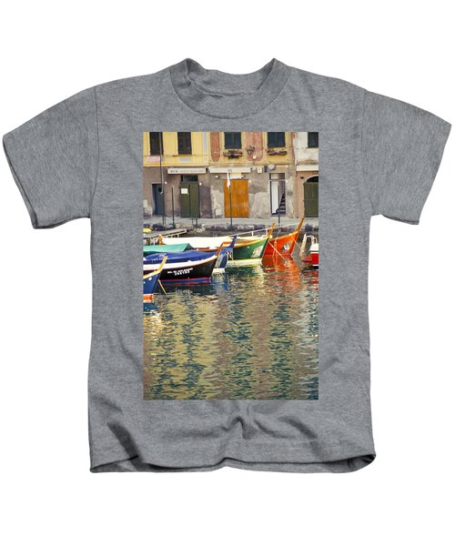 Italy Portofino Colorful Boats Of Portofino Kids T-Shirt