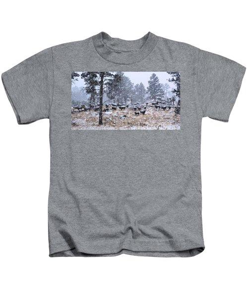 January Snow Kids T-Shirt