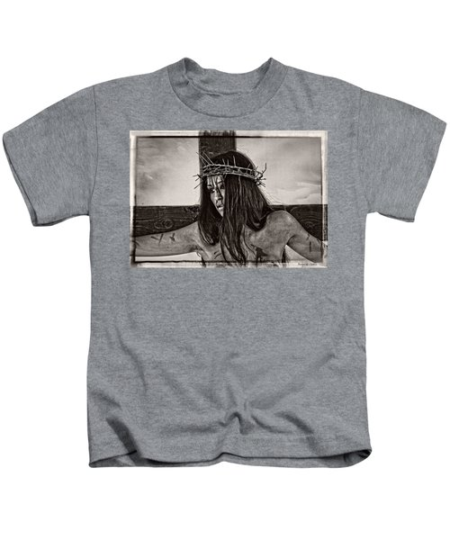 Jesus Christ Portrait Kids T-Shirt