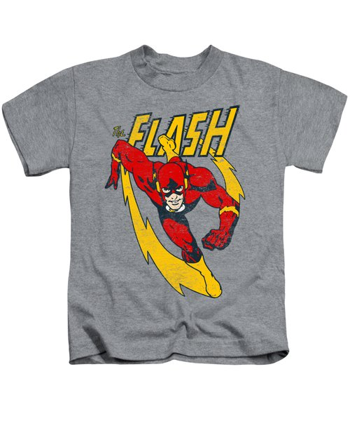 Jla - Lightning Trail Kids T-Shirt