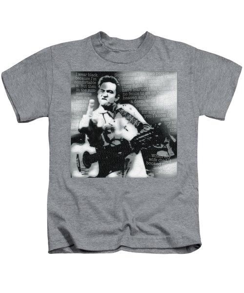 Johnny Cash Rebel Kids T-Shirt