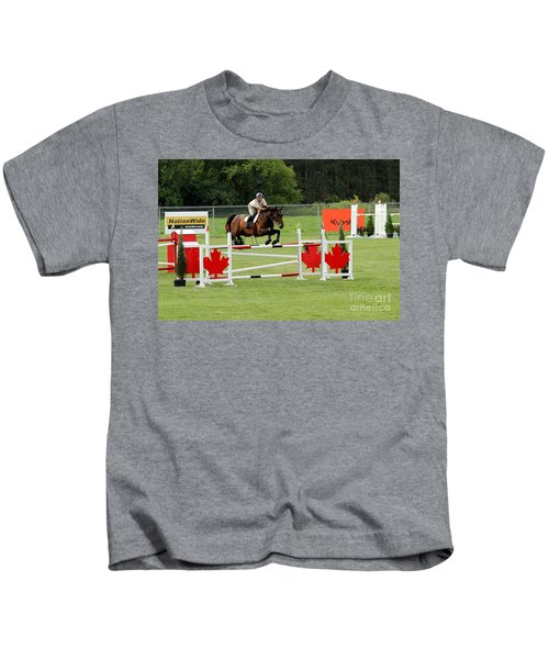 Jumping Canadian Fence Kids T-Shirt