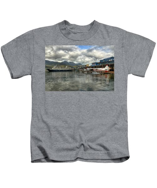 Juneau's Hangar On The Wharf Kids T-Shirt