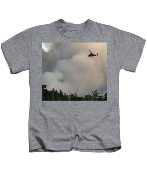 K-max Helicopter On Myrtle Fire Kids T-Shirt