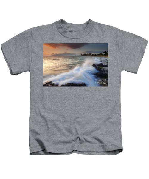 Kamaole Beach Dusk Kids T-Shirt