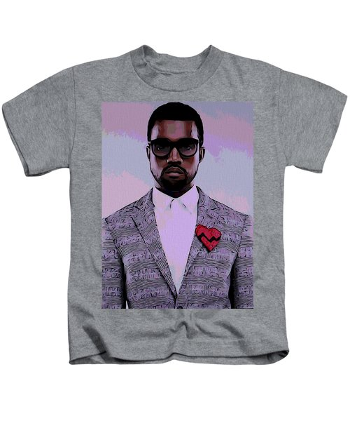 Kanye West Poster Kids T-Shirt by Dan Sproul