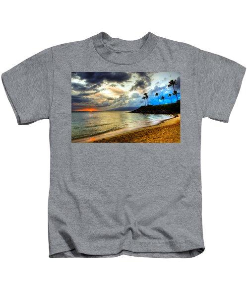 Kapalua Bay Sunset Kids T-Shirt
