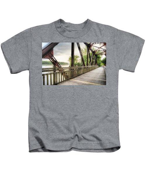 Katy Trail Near Easley Kids T-Shirt