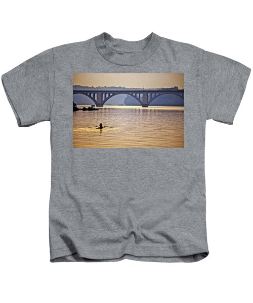 Key Bridge Rower Kids T-Shirt