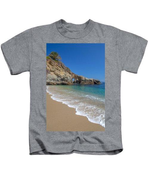 Keyhole Arch Laguna Beach Kids T-Shirt