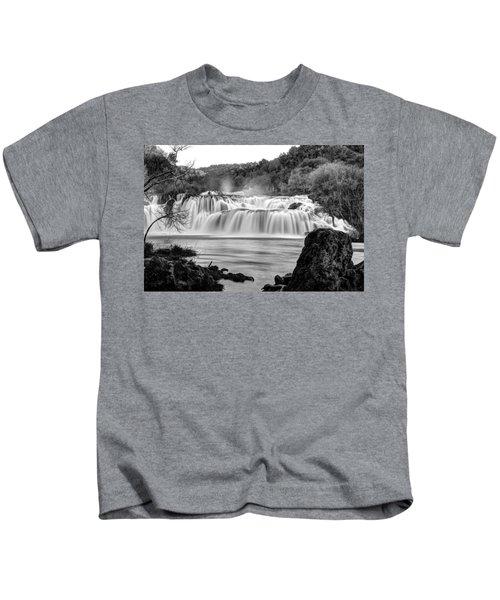 Krka Waterfalls Bw Kids T-Shirt