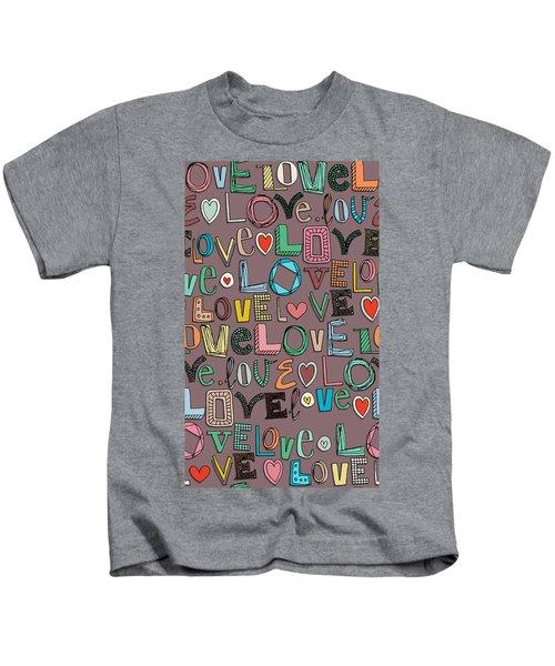 l o v e LOVE mocha Kids T-Shirt