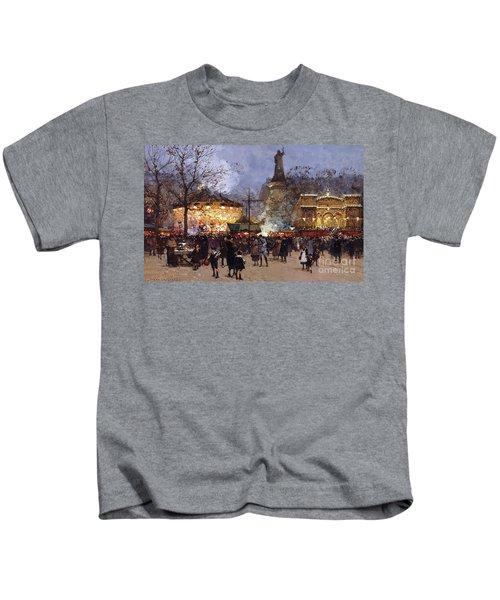 La Fete Place De La Republique Paris Kids T-Shirt
