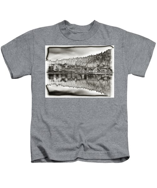 Lake House Reflection Kids T-Shirt