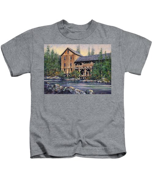 Lewisville Grist Mill Afternoon Kids T-Shirt