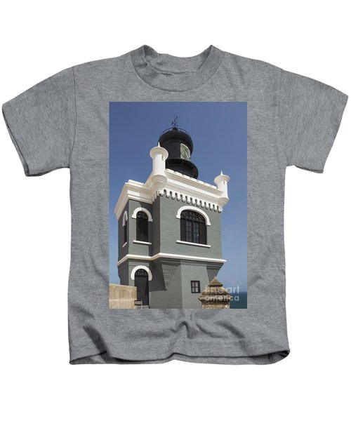 Lighthouse At El Morro Fortress Kids T-Shirt